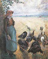 Turkey Girl, 1884, pissarro
