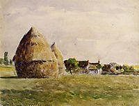 Twilight, Eragny, 1889, pissarro