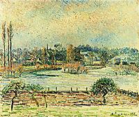 View of Bazincourt, Flood, Morning Effect, 1892, pissarro