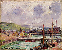 View of Duquesne and Berrigny Basins in Dieppe, 1902, pissarro