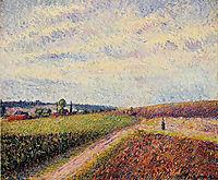 View of Eragny, 1892, pissarro