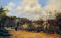 View from Louveciennes, pissarro