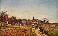 View of Pontoise, 1873, pissarro