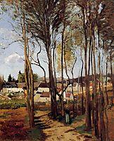 A Village through the Trees, c.1868, pissarro
