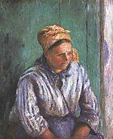 Washerwoman Study (also known as La Mere Larcheveque), 1880, pissarro