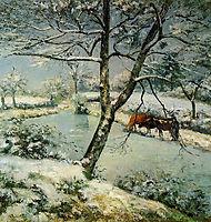 Winter at Montfoucault, 1875, pissarro