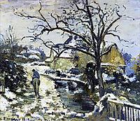 Winter at Montfoucault 2, 1875, pissarro