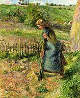 Woman Digging, 1883, pissarro