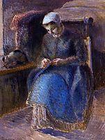 Woman Sewing, 1881, pissarro