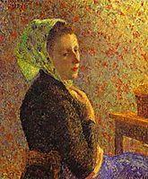 Woman wearing a green headscarf, 1893, pissarro