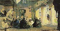 Among the teachers, c.1900, polenov