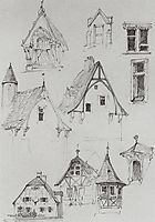 Architectural sketches. From travelling in Germany., 1872, polenov