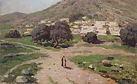 At the foot of the mountain, c.1900, polenov