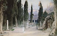Cemetery among the cypress, 1897, polenov