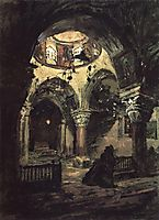 Church of St. Helena. Aisle of the temple of the Holy Sepulcher., 1882, polenov