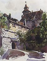Corner of the medieval city with a wall, 1889, polenov