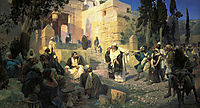 A depiction of Jesus and the woman taken in adultery, 1888, polenov