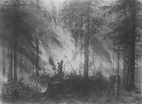 Fire in dry Cobra, 1870, polenov