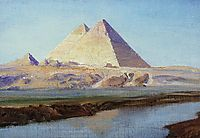 Great Pyramids of Cheops and Chephren, 1899, polenov