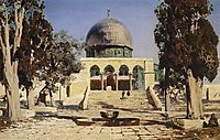 Haram Ash-Sharif - the square where the ancient Temple of Jerusalem was situated, 1882, polenov