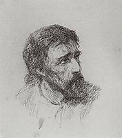 Head of Christ, c.1885, polenov
