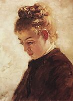 The head of model Blanche Orme, 1875, polenov