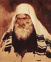 Head of old jew, 1895, polenov