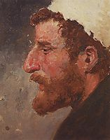 Head of red-headed man, c.1885, polenov