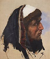 The head of a young man in a blue veil, c.1885, polenov