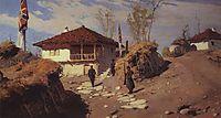 Headquarters of commander of Ruschuksk detachment  in Brestovets, 1883, polenov