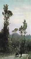 Italian landscape with a peasant, 1874, polenov
