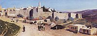 Jerusalem from the west. Jaffa Gate and the Citadel., 1882, polenov