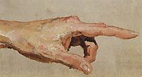 Left hand with the index finger, c.1885, polenov