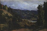 Mountainous riverbank of Oyat, polenov