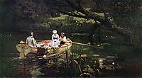 On the boat. Abramtsevo., 1880, polenov