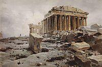 Parthenon. Temple of Athena Parthénos., c.1882, polenov