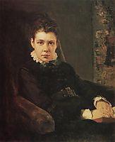 Portrait of D. Khrushcheva, the artist-s sister, 1874, polenov