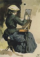 Portrait of N. Yakunchikova, 1882, polenov