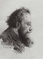 Portrait of A. V. Prahov, art historian and art critic, 1879, polenov