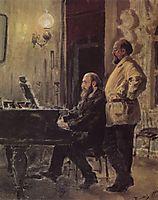S. I. Mamontov, P. A. Spiro, at the piano, 1882, polenov