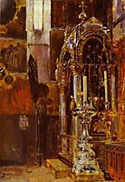 The Shrine of the Metropolitan Iona in the Uspensky Cathedral, 1877, polenov