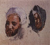 The two men-s heads in turbans, polenov