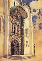 The Uspensky Cathedral. South Gates., 1877, polenov