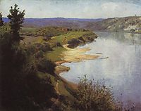 View of Oka from the western riverbank, polenov