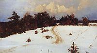 Winter landscape. Behovo., 1897, polenov