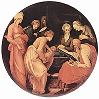 Birth of John the Baptist, 1526, pontormo