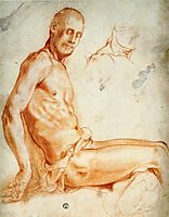 Christ Seated, as a Nude Figure, pontormo