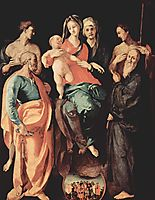 Madonna with St. Anne, St. Sebastian, St. Peter, St. Benedict and St. Filippus, 1529, pontormo