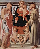 Madonna with St. Francis and St. Jerome, 1522, pontormo