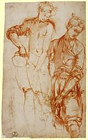 Study of a Girl Pouring from a Jug, c.1523, pontormo